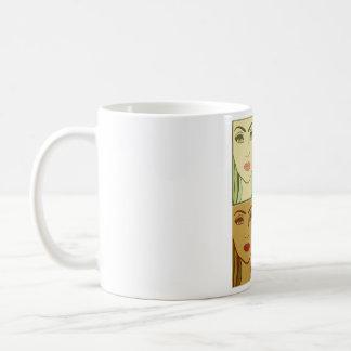 Four season one  girl face classic white coffee mug