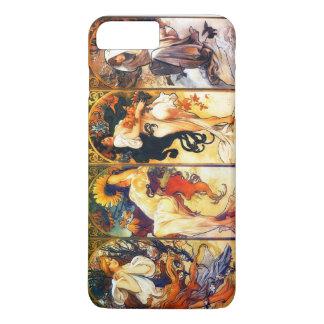 Four Seasons 2 vintage Mucha iPhone 7 Plus Case