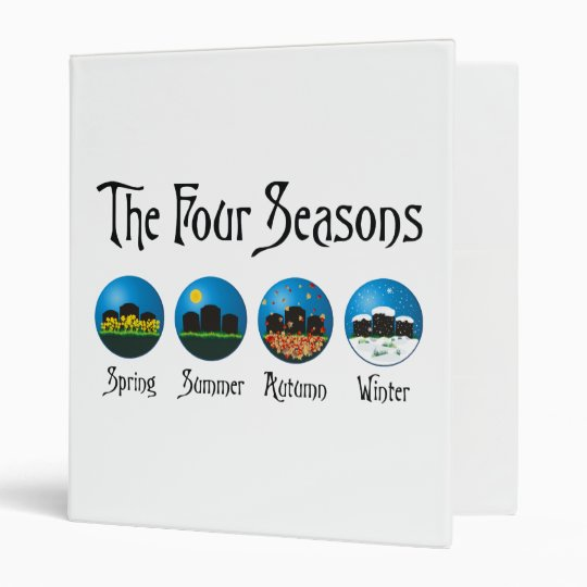 Four Seasons At The Cemetery Binder
