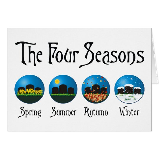 Four Seasons At The Cemetery Card