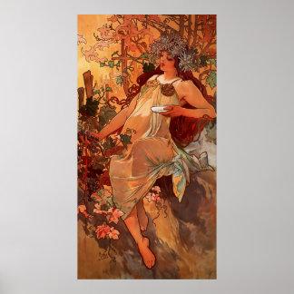 Four Seasons Autumn Poster