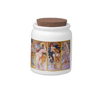 Four Seasons by Alfons Mucha Candy Dish