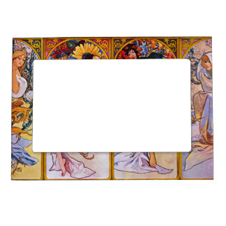 Four Seasons by Alfons Mucha Magnetic Photo Frame
