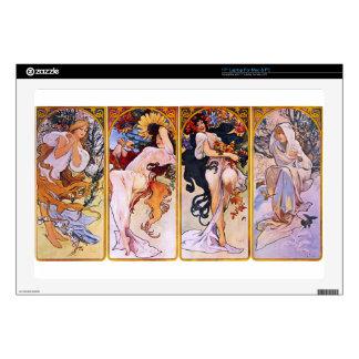 "Four Seasons by Alphonse Mucha 17"" Laptop Decal"