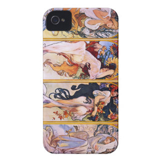 Four Seasons by Alphonse Mucha 1895 Case-Mate iPhone 4 Case