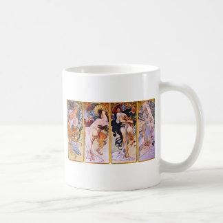 Four Seasons by Alphonse Mucha Coffee Mug