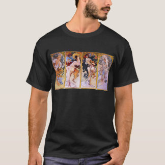 Four Seasons by Alphonse Mucha T-Shirt