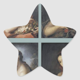 Four Seasons by Rosalba Carriera Star Sticker