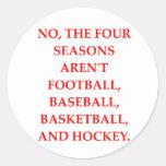 four seasons classic round sticker