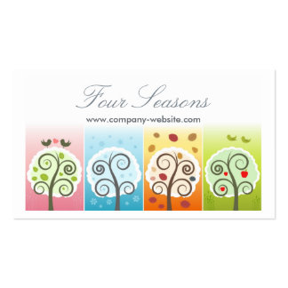Four Seasons Double-Sided Standard Business Cards (Pack Of 100)