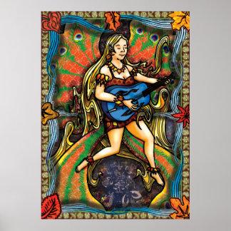 Four Seasons - Fall Faerie Poster