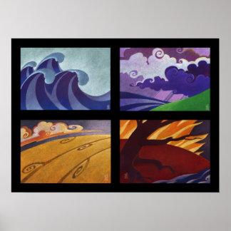Four Seasons - Four Elements Poster