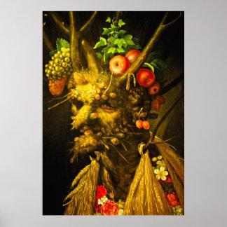 Four Seasons - Giuseppe Arcimboldo Poster