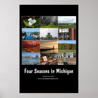 four seasons in michigan poster