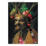 Four Seasons In One Head - Arcimboldo -1590 Greeting Cards