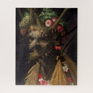 Four Seasons in One Head by Giuseppe Arcimboldo Jigsaw Puzzle
