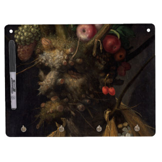 Four Seasons in One Head - Giuseppe Arcimboldo Dry Erase Board With Keychain Holder