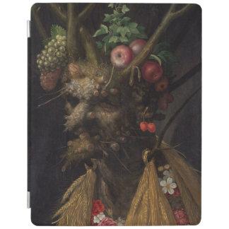 Four Seasons in One Head - Giuseppe Arcimboldo iPad Cover