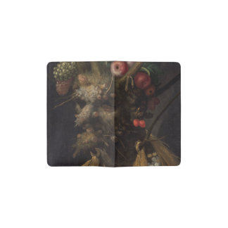 Four Seasons in One Head - Giuseppe Arcimboldo Pocket Moleskine Notebook Cover With Notebook