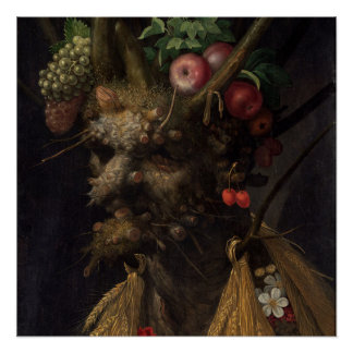 Four Seasons in One Head - Giuseppe Arcimboldo Poster