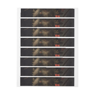 Four Seasons in One Head - Giuseppe Arcimboldo Wrap Around Address Label