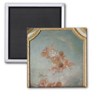 Four Seasons in the Salle du Conseil  - Spring 2 Inch Square Magnet