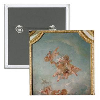 Four Seasons in the Salle du Conseil  - Spring Button