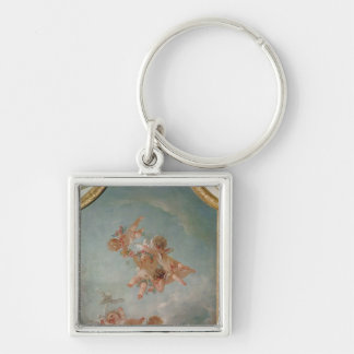 Four Seasons in the Salle du Conseil  - Spring Silver-Colored Square Keychain
