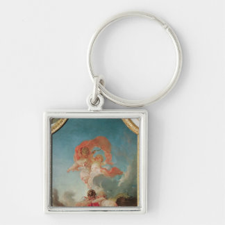 Four Seasons in the Salle du Conseil  - Summer Silver-Colored Square Keychain