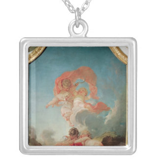 Four Seasons in the Salle du Conseil  - Summer Silver Plated Necklace