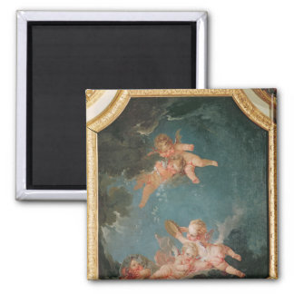 Four Seasons in the Salle du Conseil  - Winter 2 Inch Square Magnet