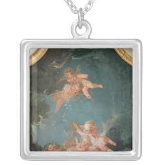 Four Seasons in the Salle du Conseil  - Winter Silver Plated Necklace