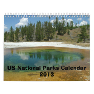 Four Seasons in US National Parks Calendar 2013
