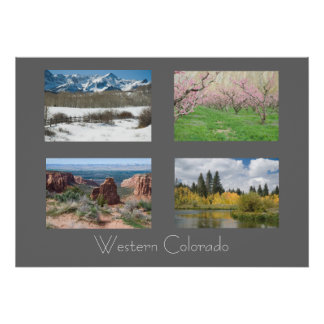 Four Seasons in Western Colorado Nature Poster