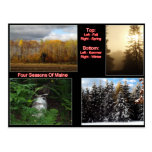 Four Seasons Of Maine Postcards