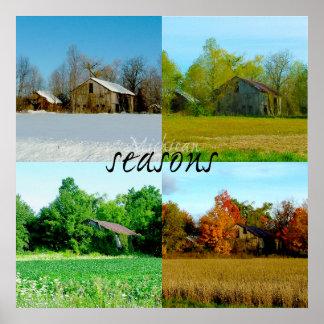 Four Seasons of Michigan Poster
