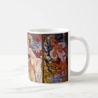 Four Seasons Personified by Women Classic White Coffee Mug