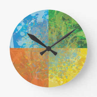 Four Seasons Round Clock