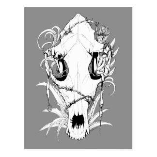 Four Seasons Skulls: Summer Drought Postcard