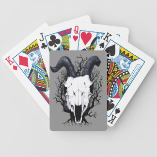 Four Seasons Skulls: Winter Chill Bicycle Playing Cards