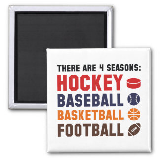 Four Seasons Sports 2 Inch Square Magnet