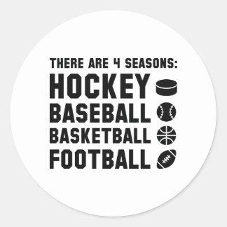 Four Seasons Sports Classic Round Sticker