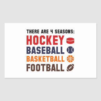 Four Seasons Sports Rectangular Sticker