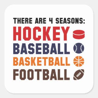 Four Seasons Sports Square Sticker