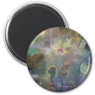 Four Seasons - Spring Summer Winter Fall 2 Inch Round Magnet