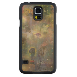 Four Seasons - Spring Summer Winter Fall Carved Maple Galaxy S5 Slim Case