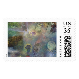 Four Seasons - Spring Summer Winter Fall Postage Stamp