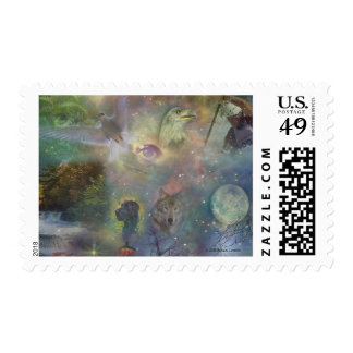 Four Seasons - Spring Summer Winter Fall Postage Stamps