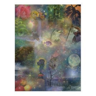 Four Seasons - Spring Summer Winter Fall Postcard