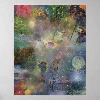 Four Seasons - Spring Summer Winter Fall Poster